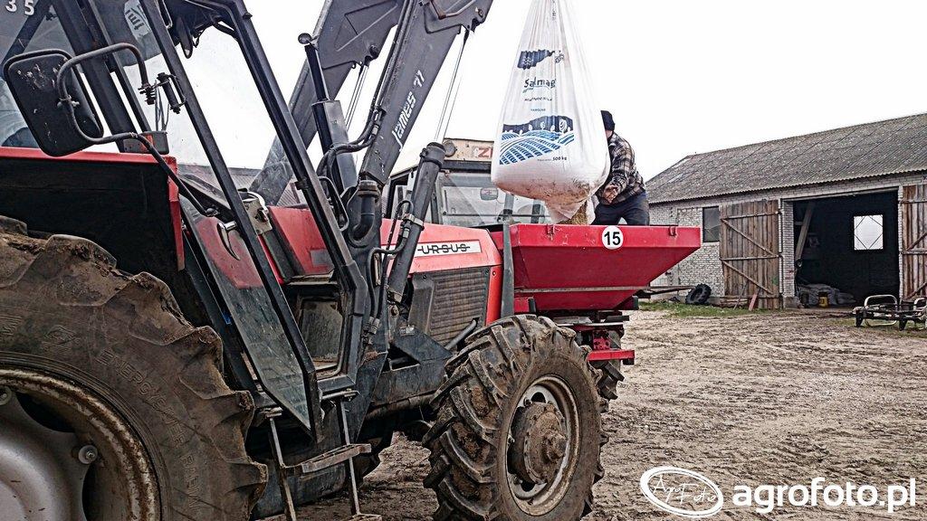 Ursus 914 FINN & Zetor 7745 + Rozsiewacz Jarmet