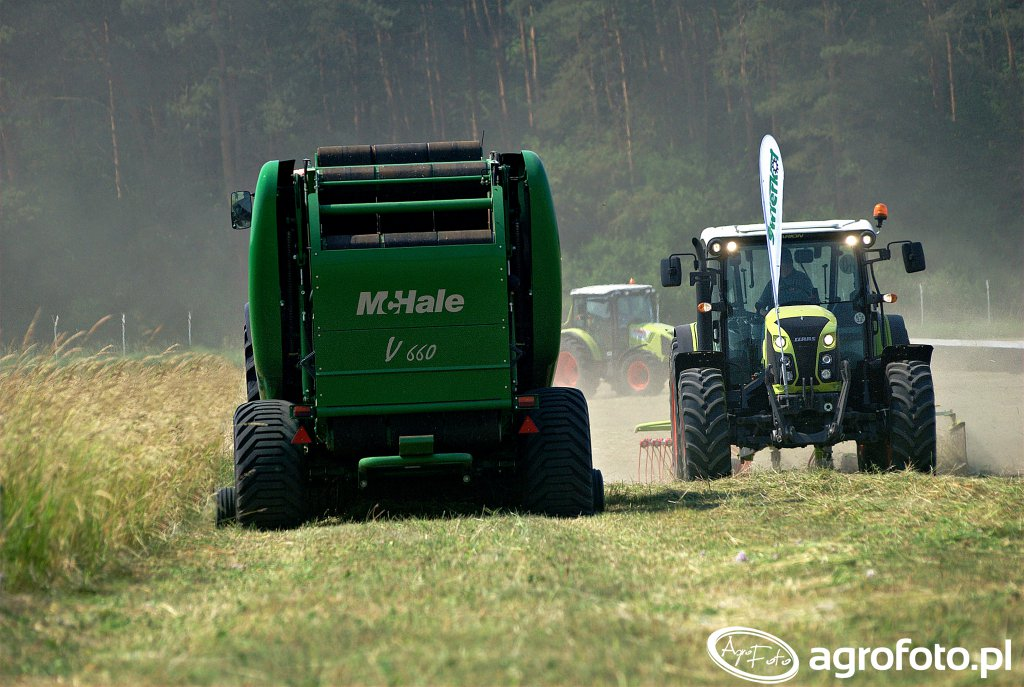 McHale V660 + Claas Arion 420