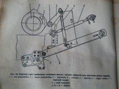 Ustawienie cięgien dolnych ciągnik T25