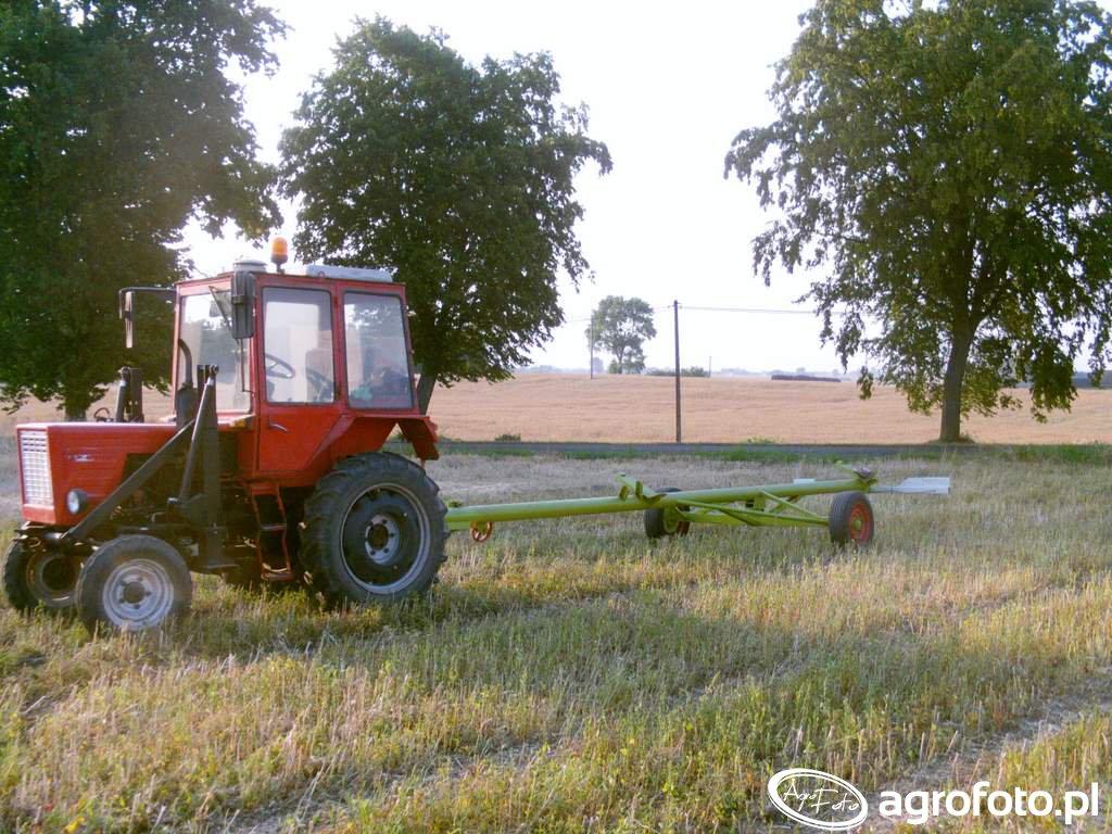 Wladimirec T25A & wózek hederu Claas Dominator