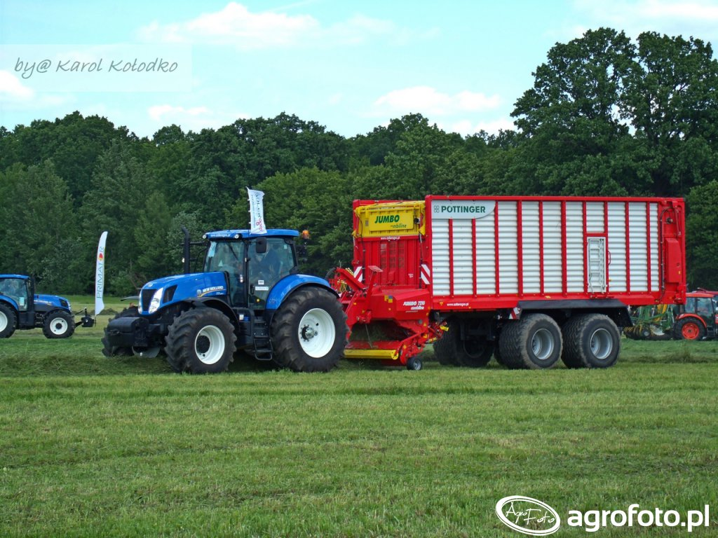 New Holland T7 + Pottinger JUMBO 7210 Combiline