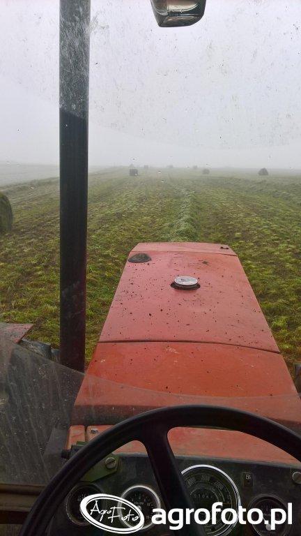 Prasowanie trawy Zetor 16145 + Krone kr 130