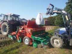 Case 5130 + Agromasz SR300&AT300ni Farmtrac 555 dt.