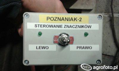 Elektryczne sterowanie znacznikami w siewniku Poznaniak