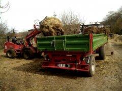 Schaffer 2345 i przyczepa pronar 6 ton