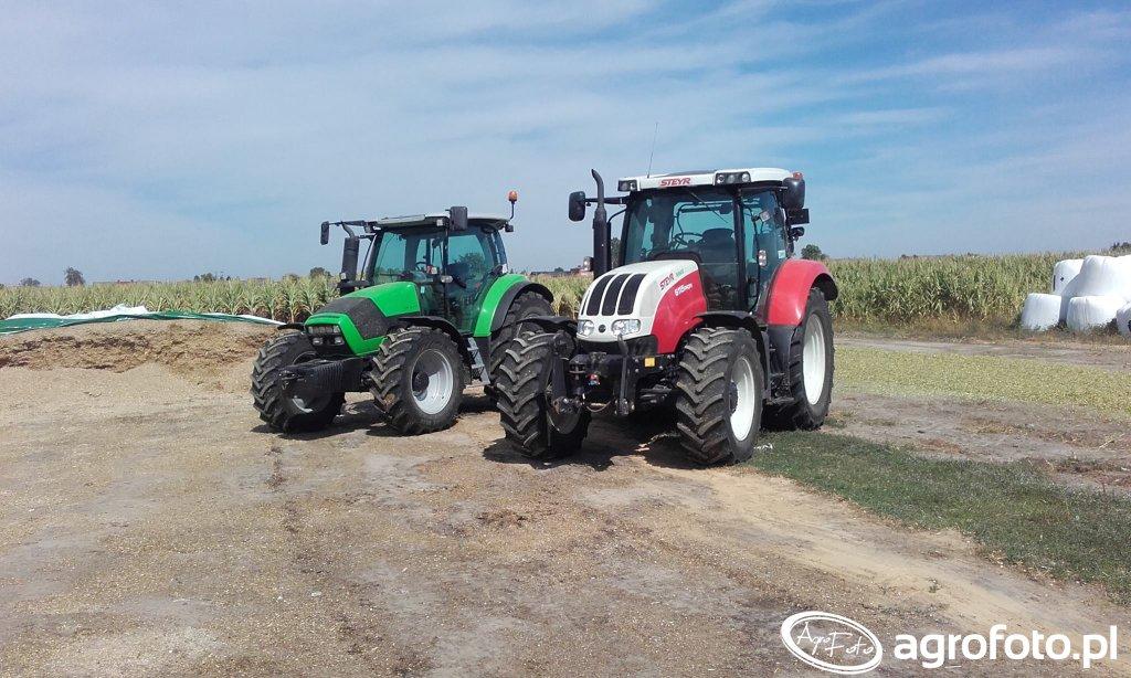 Steyr 6115 Profi + Deutz Fahr Agrotron K420