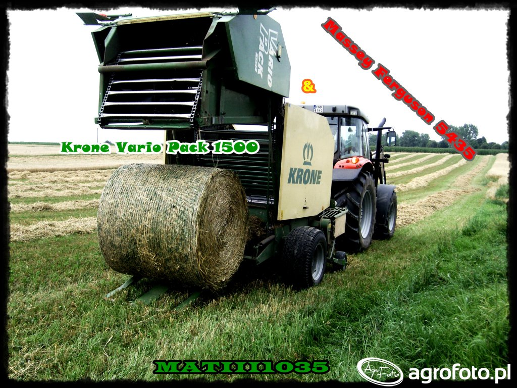 Krone Vario Pack 1500 & Massey Ferguson 5435