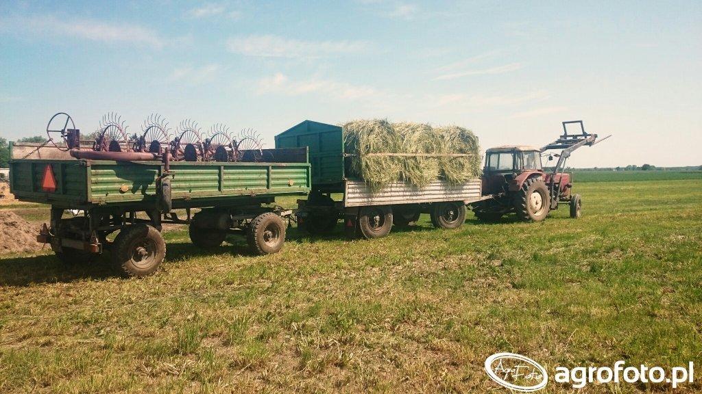 Autosan D-732 + D-55 + zgrabiarka + Ursus C-355