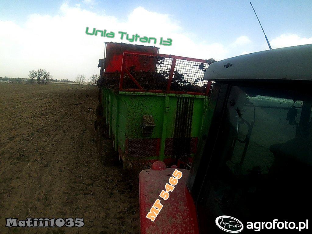 Unia Tytan 13, obornik pod kukurydzę! :)