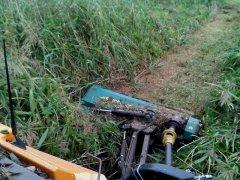 Mulczerowanie łąki - mulczer Agromec 1,6 m + Renault 113.14TX