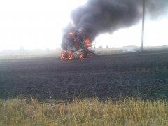 Pożar prasy Claas Variant 360