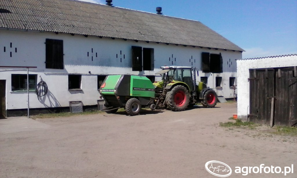 Claas Ares 616 RZ + prasa Deutz-Fahr MP 130