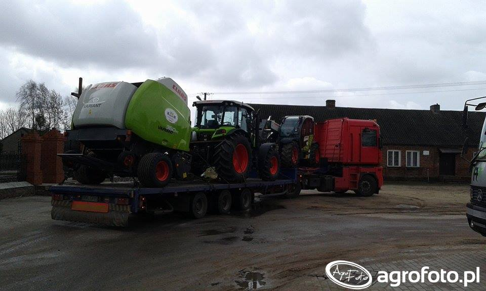 Claas Arion 410 + Claas Variant 360RC & Claas Scorpion 6030CP