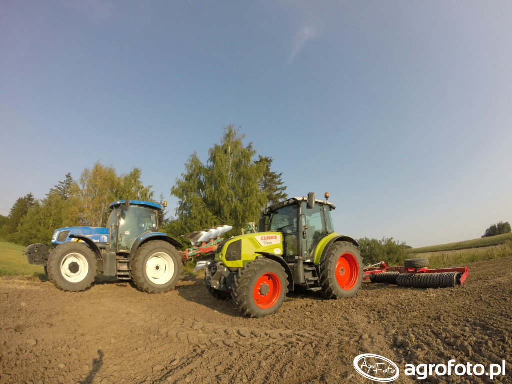 Claas Arion 410 & New Holland T6070