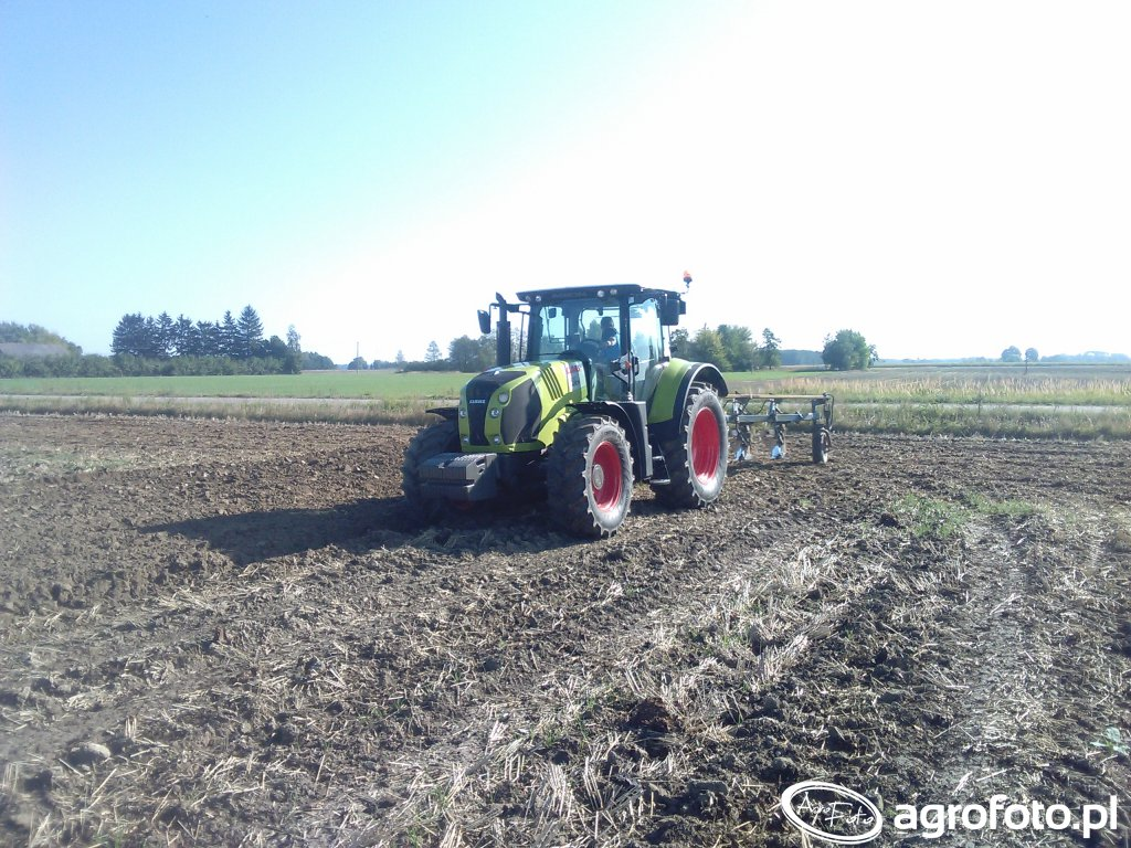 Claas Arion 620 & Overum 4 skiby