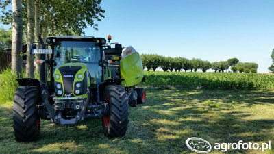 Claas Arion 420 + Claas Variant 360 RC PRO