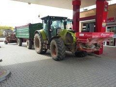 Claas Arion 620 + Kroger Agroliner + Expom  Tytan + Kverneland Exacta