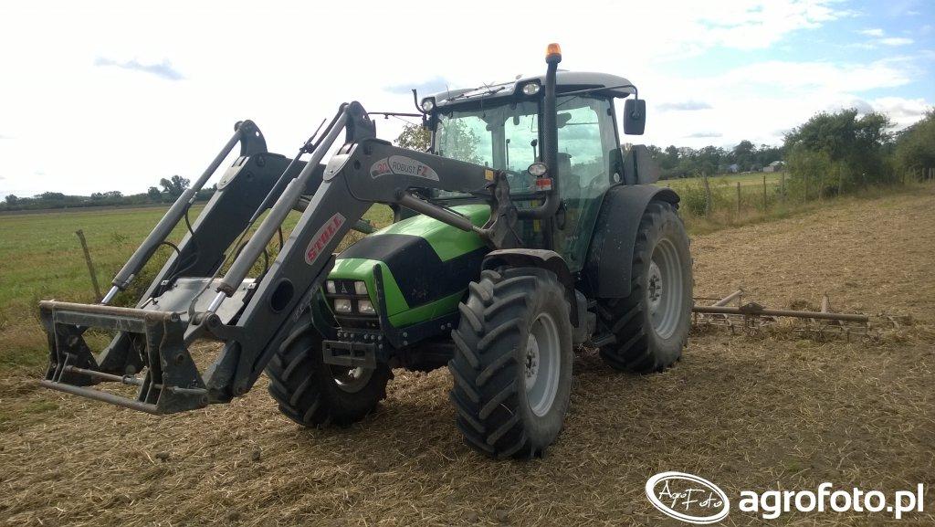 Deutz-Fahr Agrofarm 430 & Stoll & brony 5-ki