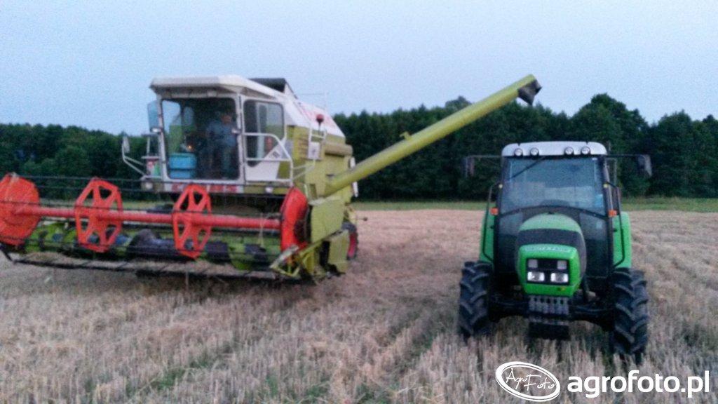 Deutz Fahr Agrolux 65 & Claas Dominator 98