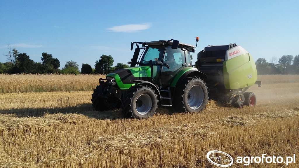 Deutz-Fahr Agrotron K420 & Claas Variant 380