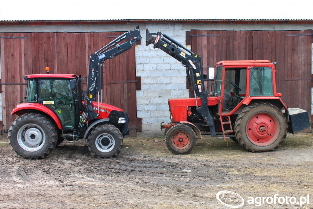 Case Farmall C75 i MTZ 80