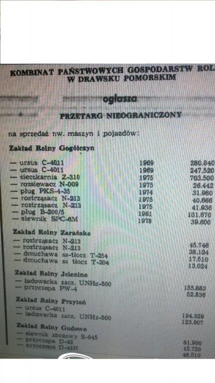 Przetarg W PGR Rok 1985