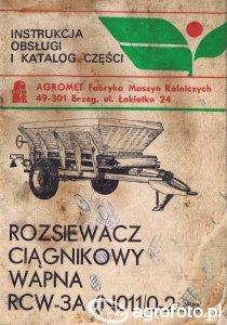 Rozsiewacz ciągnikowy wapna RCW 3A (N011 0 2,5)