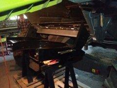 CLAAS TUCANO 440 montaż rozrzutnika plew