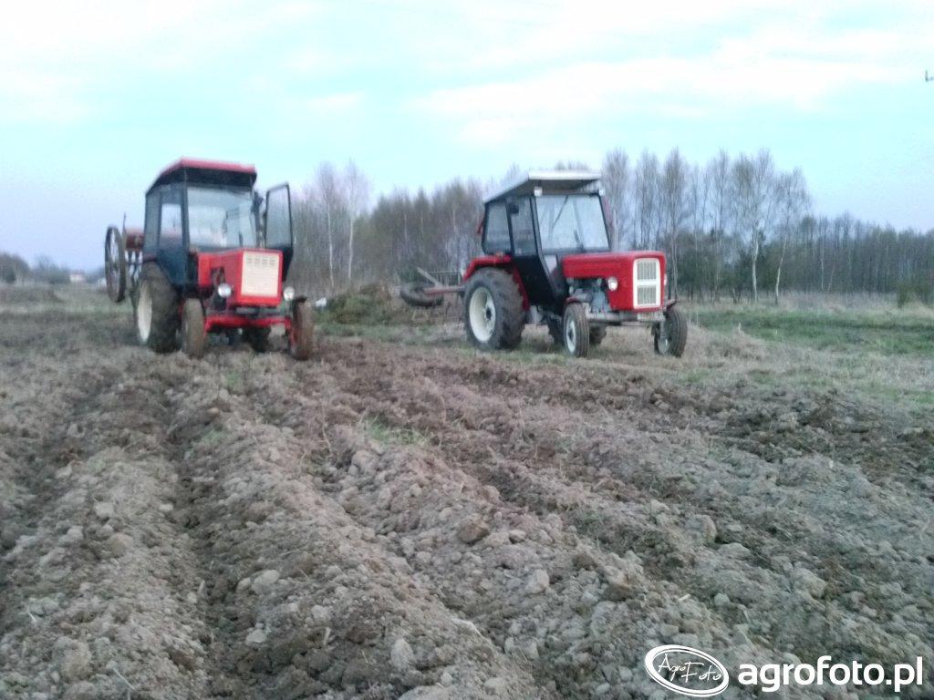 Ursus 355 & bony i Władimirec t25 &siewnik konny