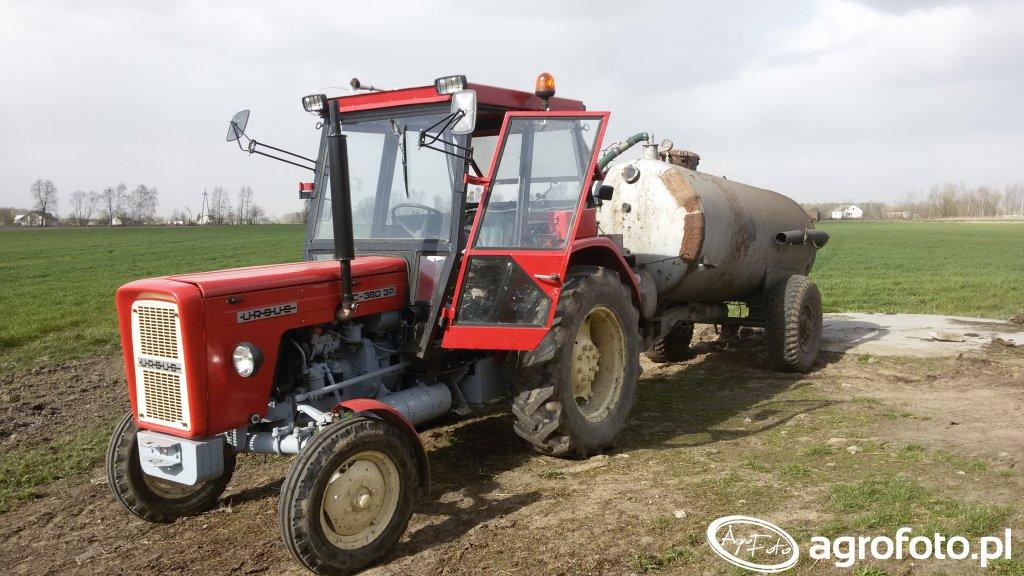 Ursus C-360 3P + beczka 4500 litrów