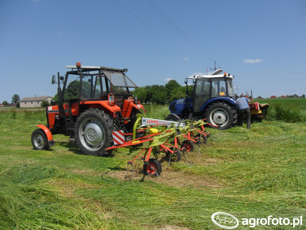 Ursus 3512 + Claas WAS450 i Farmtrac 555 + Tad-len KR1,65