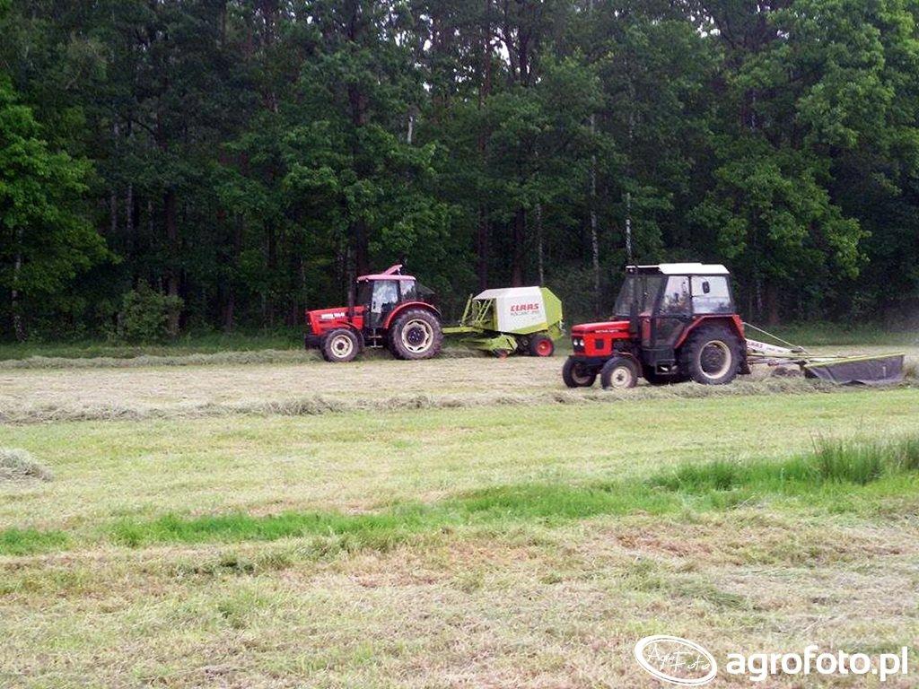 Zetor 5211 + Claas Liner & Zetor 10641 Turbo + Claas Rollant 255 Rc