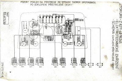 Schemat instalacji elektrycznej Zetor ZTS 16245 Deska rozdzielcza