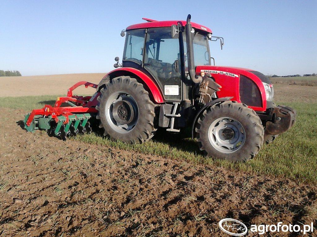 Zetor Proxima 90 i Agro Masz AT30