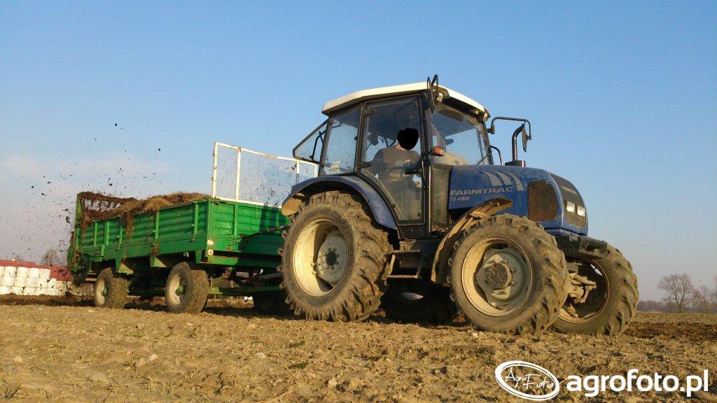 Farmtrac 704WD&rozrzutnik 2 osiowy