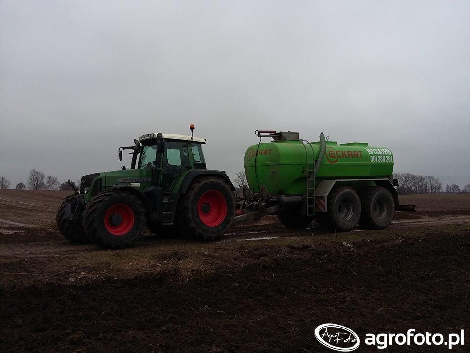 Fendt 818 Vario TMS & Eckart 18 500l Usługi Rolnicze