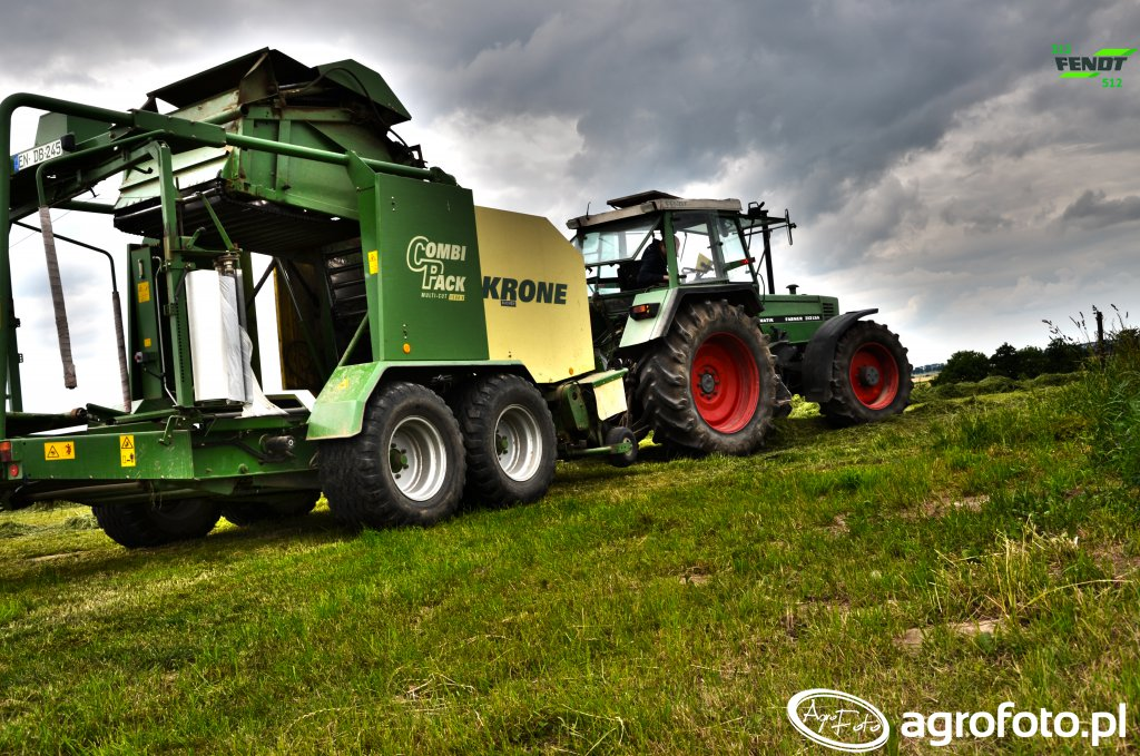 Fendt farmer 312& Krone combi pack