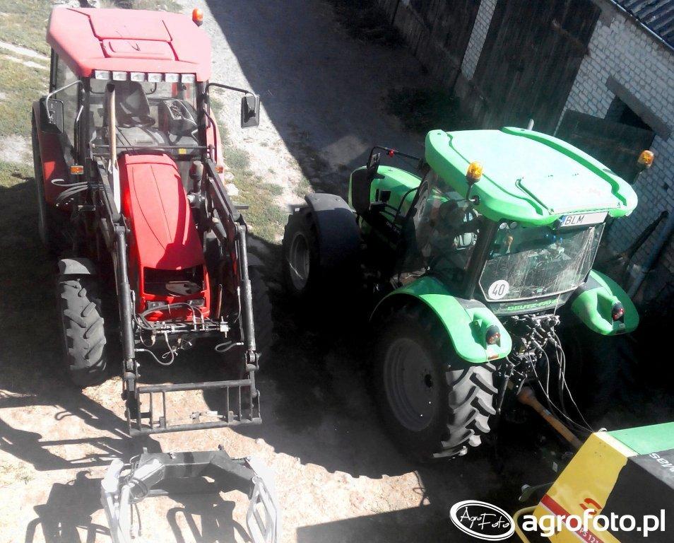 Farmer F-8244 C2 & Deutz-Fahr 5105.4 G HD
