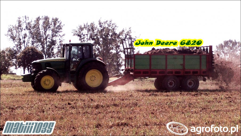 John Deere 6820 + Unia Tytan