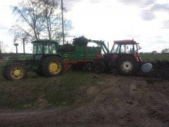 John Deere 2140 + Warfama N-218P + Zetor 7745 + Quicke 2300
