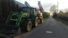 John Deere 5080M + Kverneland Rau Ikarus S38