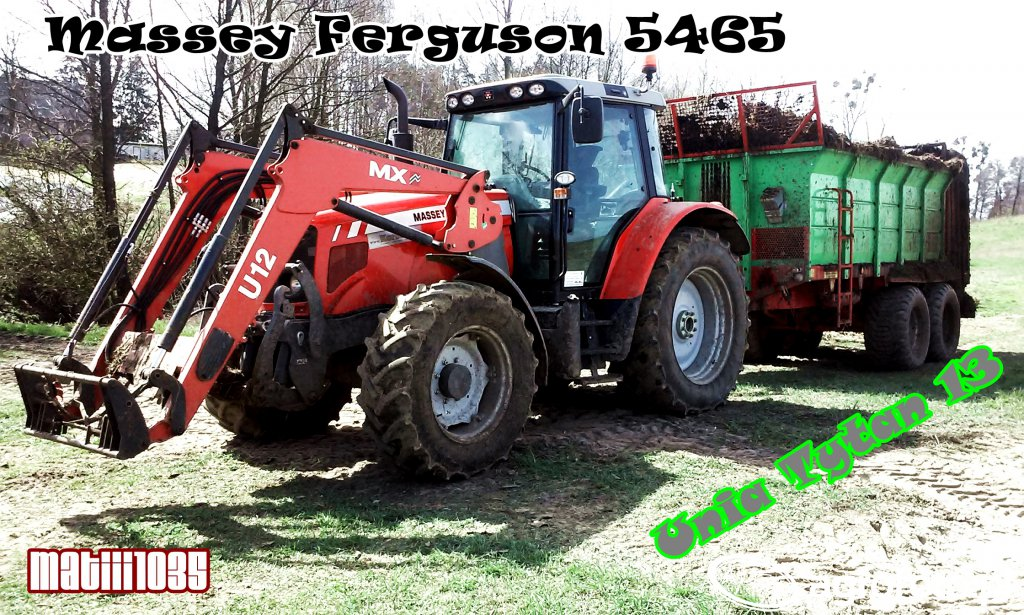 Massey Ferguson 5465 + Unia Tytan 13