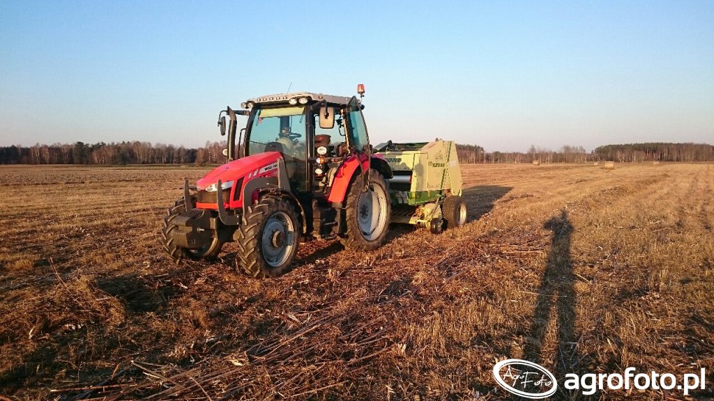 Massey Ferguson 5608 & Krone KR130