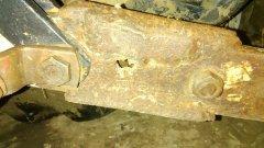 Spawana złamana belka w Mf 255