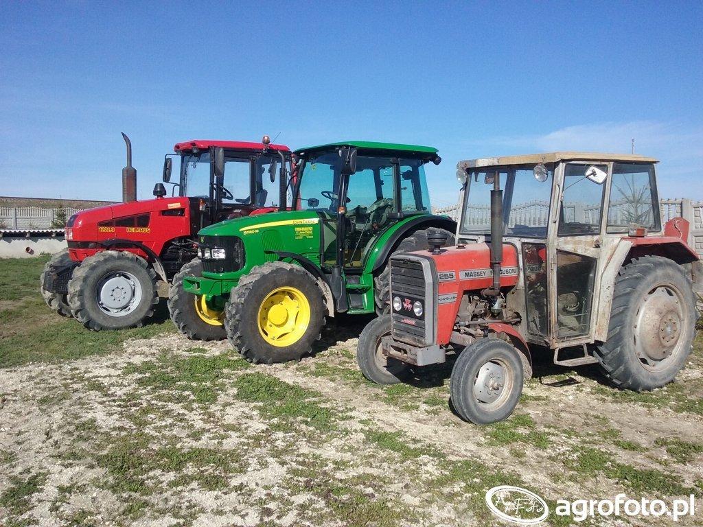 Belarus 1221.3 & John Deere 5080M & MF 255