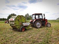 Belarus 820 + Claas Rollant 44