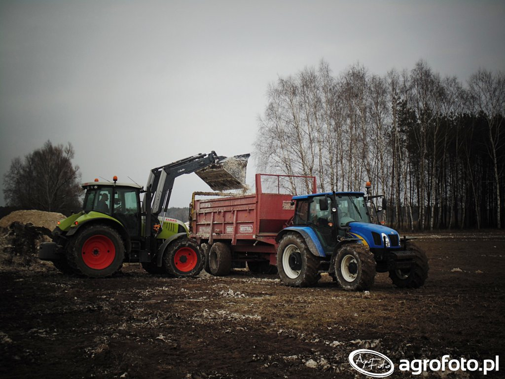 Claas Arion 610 & New Holland T5060
