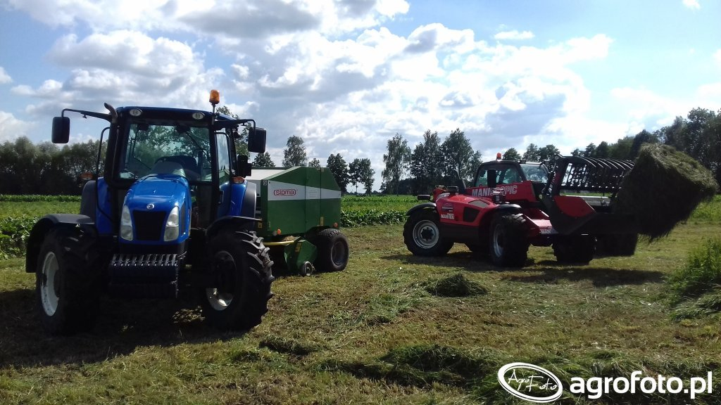 New Holland T5040 & Manitou 634