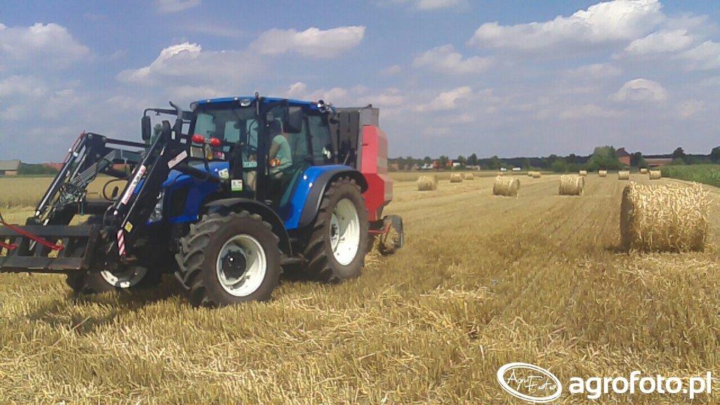 New Holland T5050\u0026Rivierre RV 126L