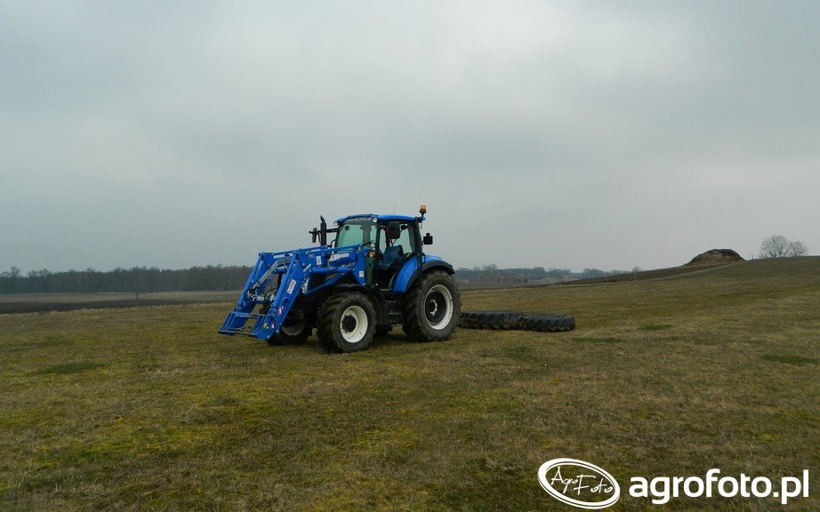 New Holland T5.105 DC / AgroMasz Ł-106A / Włóka